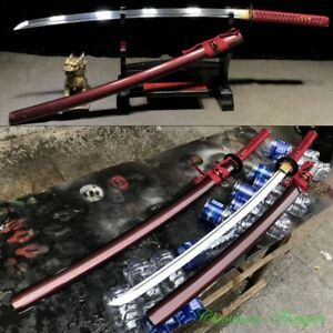 Sharp Japanese Ronin Katana Swordsman Samurai Sword Manganese Steel Blade #2581