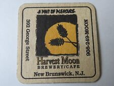 Beer Brewery Coaster ~*~ HARVEST MOON Brewery & Cafe ~ New Brunswick, NEW JERSEY