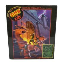 Ceaco Glow In The Dark 550pc Piece Fortress Of Dragons Puzzle New