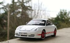 PORSCHE 911 996 GT3 RS 2004 WHITE RED STRIPES AUTOART 60470 1/43 BIANCA WEISS