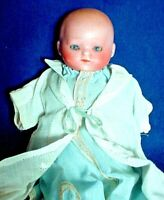 """Antique 6"""" German Bisque-Head Baby-Solid Dome Head Marked """"5/0 Germany"""""""