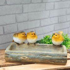Country Living Hand Painted Robin Bird Bath Garden Decor Stylish Gift #NG