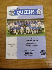 09/08/1997 LA REGINA DEL SUD V Dundee United [Scottish League Cup]. grazie per