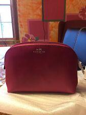 Coach Darcy Cosmetic Bag F50060 Raspberry NWT