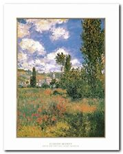 Claude Monet Path on the Island of Saint Martin Painting Wall Art Print (22x28)