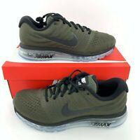 Nike Air Max 2017 Cargo Khaki Black 849559-302 Men's Running Shoes New In Box
