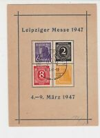 Germany 1947 Leipziger Messe 1947 Slogan Cancel Four Stamps Card ref R 19273
