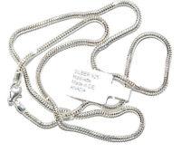 925 Silber Halskette - Collier - Schlange - Diamantiert Ø 2,4mm - Länge 48 cm