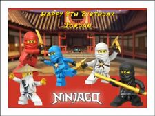 LEGO NINJAGO A4 Edible Icing Birthday Cake Party Decoration Topper #2