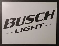 "Busch Light Beer 11"" x 8.5"" Stencil FAST FREE SHIPPING"