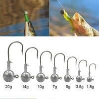 1pc Lure Jig Hooks For Soft Bait Jig Hooks Barbed neu Fishing Lead Jig Hook W3K9