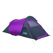 2 Man Two Person Pop Up Tent Camping Hiking Carry Case Easy Quick Fast Pitch 1kg