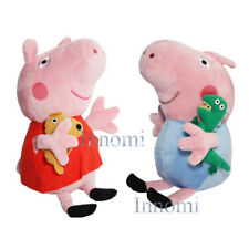 "8"" Peppa Pig Holding Bear and George Holding Dinosaur Plush Doll Stuffed Toy"