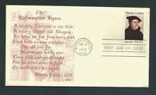 US Stamps FDC MARTIN LUTHER #2065 / ASA/3 Cachet / 1983