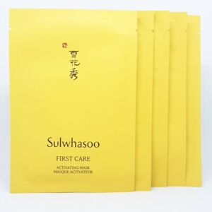 Sulwhasoo First Care Activating Mask 23g x 5pcs Moisturizing Radiance K-Beauty
