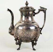 Antique Wilcox Figural Teapot Tea Coffee Pot Silverplate Griffin Dragon Feet Dog