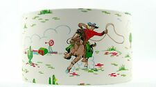 "45cm /18"" Lampshade Handmade with Cath Kidston Cowboys Cream Wallpaper"