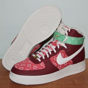 Nike Air Force 1 High 07 Nordic Christmas Sweater Shoes Mens DC1620-600 AF1