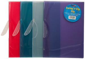 Pack of 30 Assorted Swing Clip Presentation Files - Project Wallet Folders