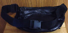 Black Genuine Leather Fanny Pack