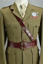 British Army Offrs' Mid C20th Parade Condition Leather Sam Browne Sword Belt.ZVY