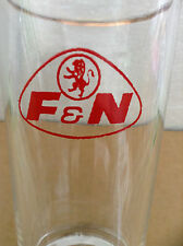 VINTAGE F&N RED LION CROWN LOGO BASE Gold Rimmed Glass