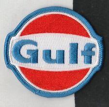 GULF OILS RACING TEAM COLOURS 7CM CLOTH SEW ON RACE SUIT PATCH PORSCHE 917 GT40