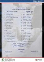 Teamsheet - Blackburn Rovers v Sunderland 2011/12 (20 Mar)
