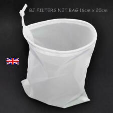 1 - MULTI-PURPOSE BEER & WINE FINE MESH NET BAG 16cm X 20cm.STRAINING £2.99 F/P
