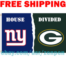 New York Giants vs. Green Bay Packers House Divided Flag Banner 3x5 ft 2019 NEW
