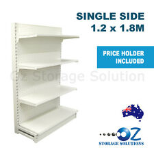 1.8m H x 1.2m W Single Sided Retail Gondola Supermarket Shelving Shop Display