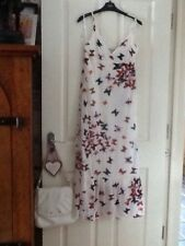 dress size 10.culture.long.wedding.summer.party.tea.butterfly.white.holiday.