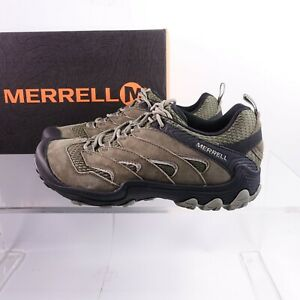 Size 11.5 Men's Merrell Chameleon 7 Limit Hiking Shoes J12781 Dusty Olive