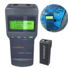 Portable SC8108 LCD Network Tester Digital Wireless PC Data CAT5 RJ45 Detector