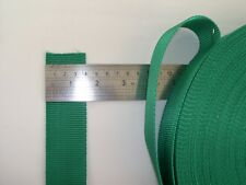 webbing moss green 1 .5 inch sold by the metre