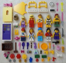 10 NEW LEGO FEMALE MINIFIG LOT girl friends women ladies figures minifigures