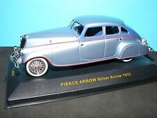 Pierce Arrow 1933 in Silver Blue/Blue  with red striping  1:43rd scale New IXO