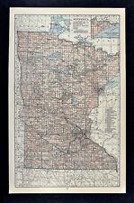c1930 Hammond Railroad Map Minnesota St. Paul Minneapolis Duluth Waycross Winona
