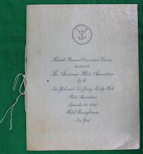 Original 1941 American Pilots Association Program/Menu