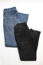 One Teaspoon Citizens of Humanity Womens Distressed Jeans Black Blue 24 Lot 2