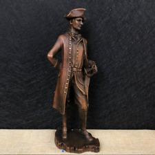 "12"" Western modern art decoration sculpture Pure copper Napoleon standing like"