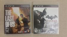 The Last of Us & Batman 3D Ps3 PlayStation 3 Complete - Authentic & Excellent