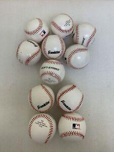Franklin Sports Soft Strike Teeballs, 11 Balls / 7 NEW 4 Slightly Used