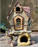 Fairy House on tree trunk novelty garden ornament decoration Pixie lover gift