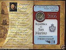 2006 2 euro COLOMBO SAN MARINO Saint Marin Colomb Colon Kolumbus Сан - Марино