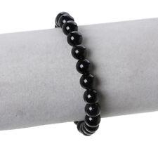 Damen Armband Obsidian Schwarz Lava Elegant Edel