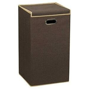 Household Essentials 5612 Collapsible Single Laundry Hamper with Magnetic Lid,