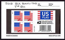 2018 US Flags BCA (Block End Cap & Pl#B111)