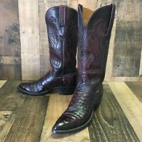 Lucchese black cherry full quill ostrich western cowgirl cowboy boots womens 7 B