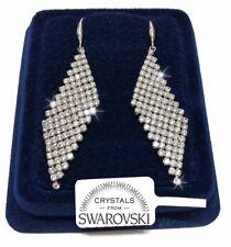 Orecchini da donna pl. oro bianco 18K cristalli swarovski  SW84/2